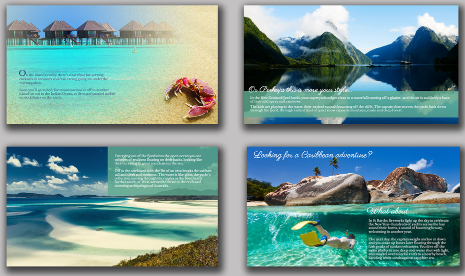 paradise themed PowerPoint template