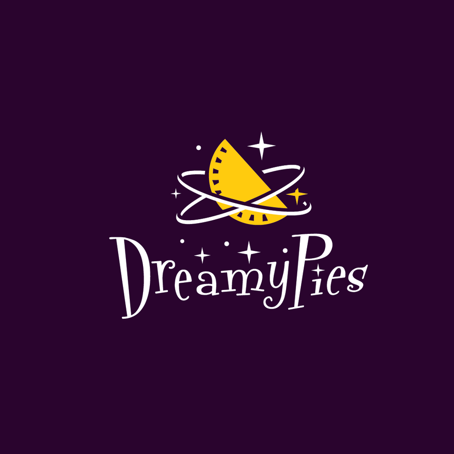 Logo for a half-moon pie company