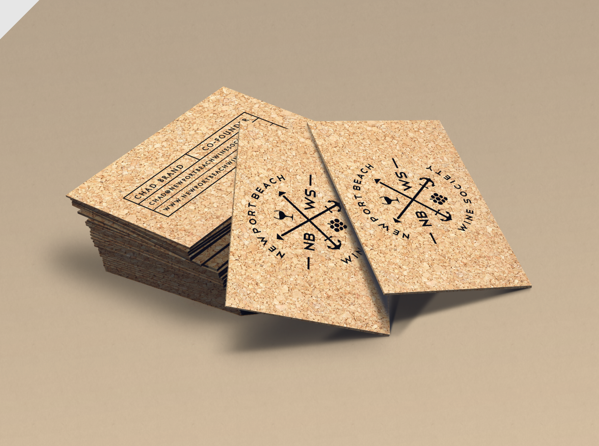 cork business card