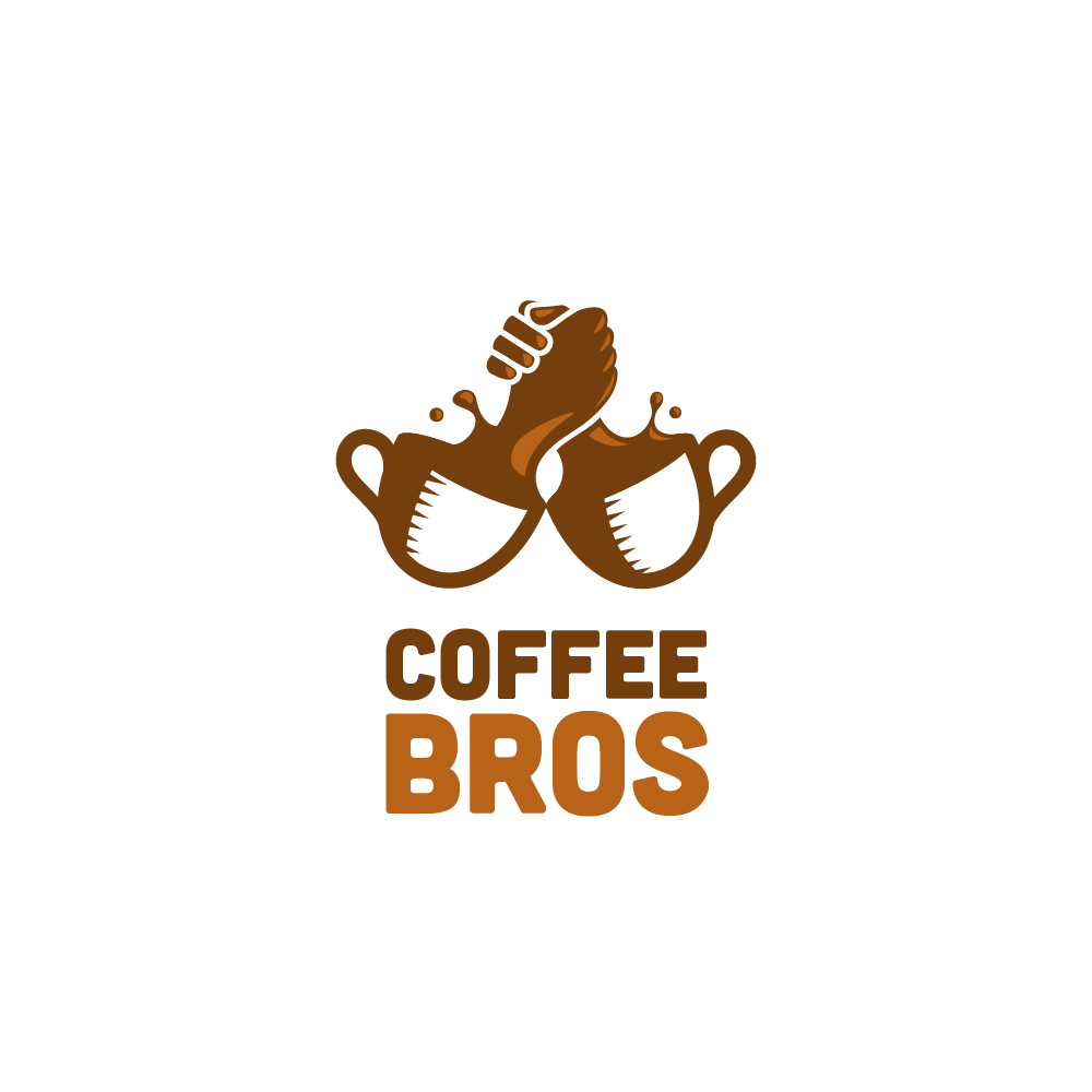 handshake out of coffee mug splash