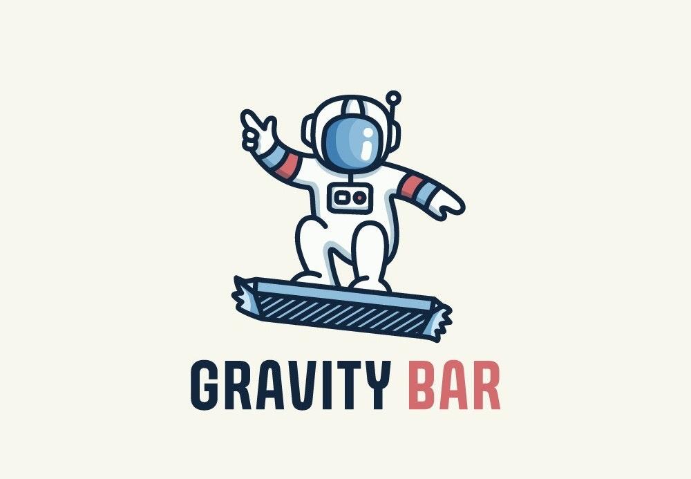 astronaut riding protein bar