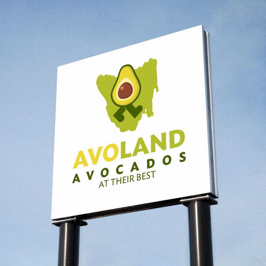 Logo for a Tasmania's first commercial avocado farm
