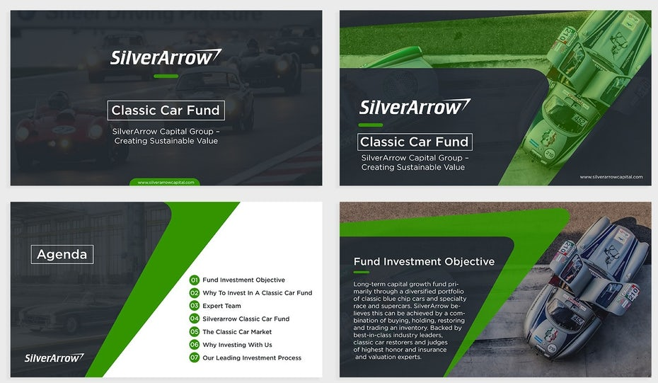 Silverarrow PowerPoint template