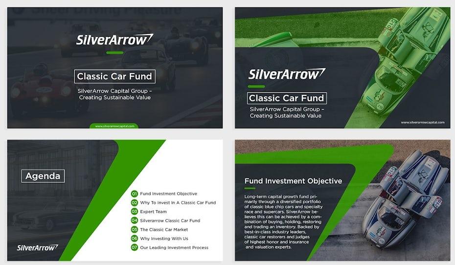 Silverarrow PowerPoint template