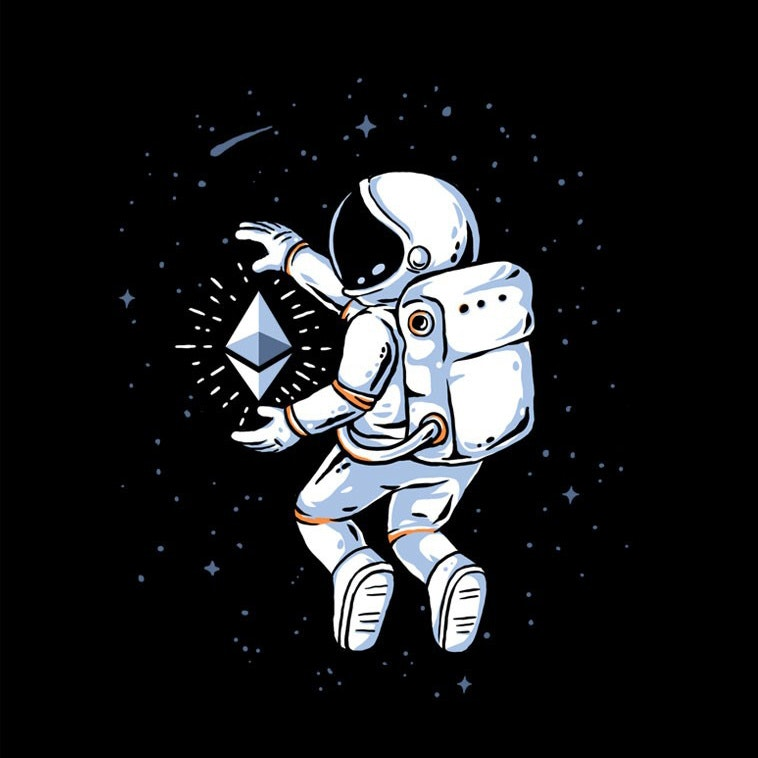 astronaut grabbing a star
