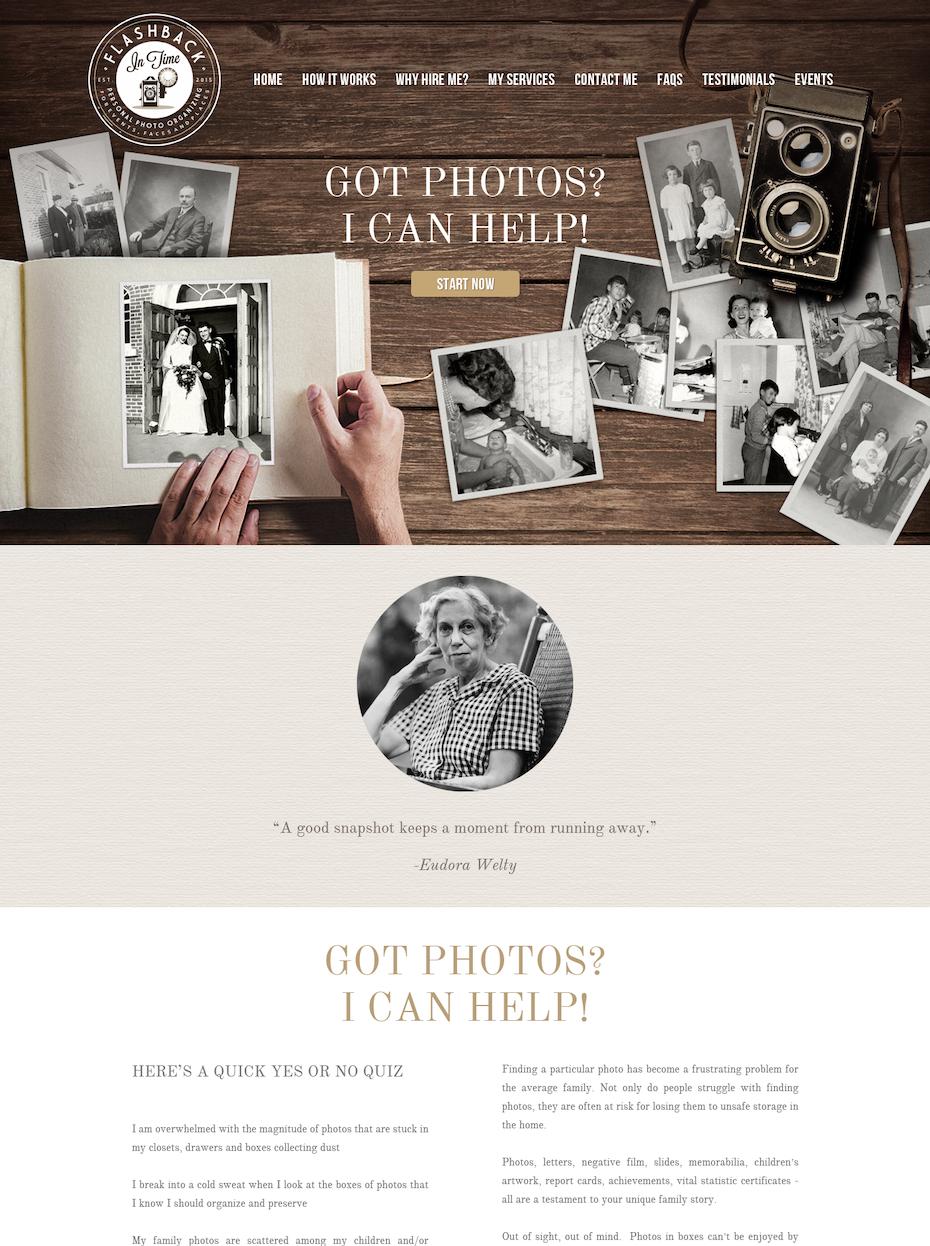 Vintage website design