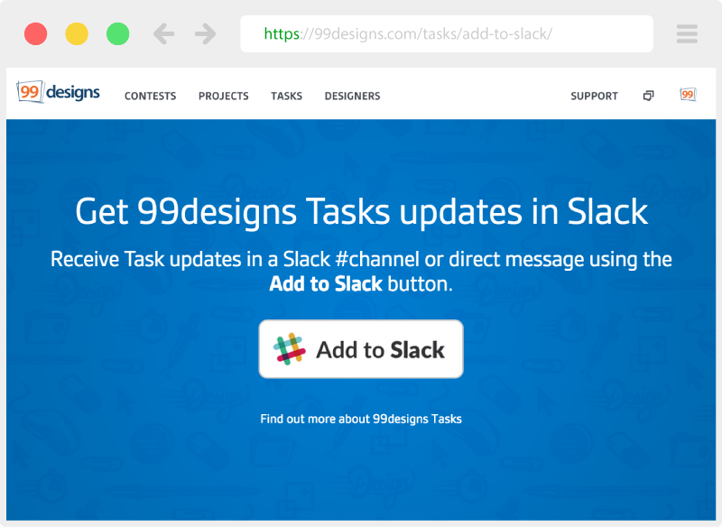 Click 'Add to Slack' button