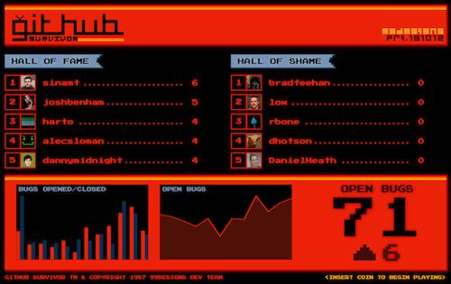 GitHub Survivor screenshot