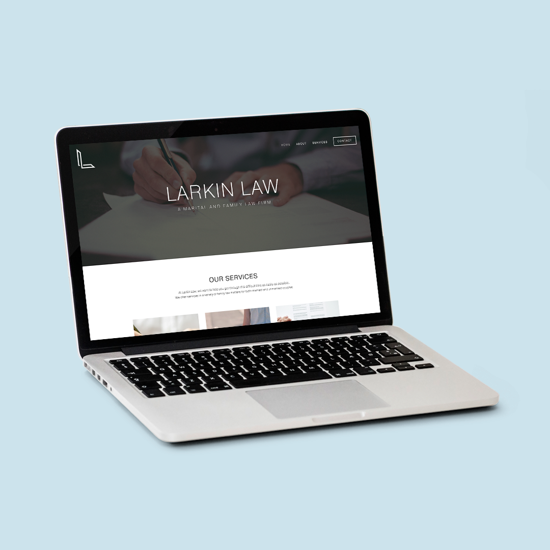 legal squarespace design