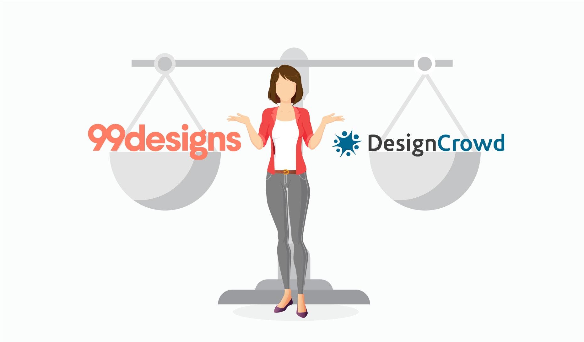 99designs vs design crowd