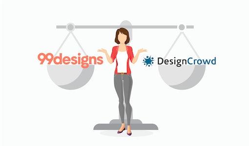 Plateformes de design - 99designs vs. DesignCrowd : quelle est la différence et comment choisir ?