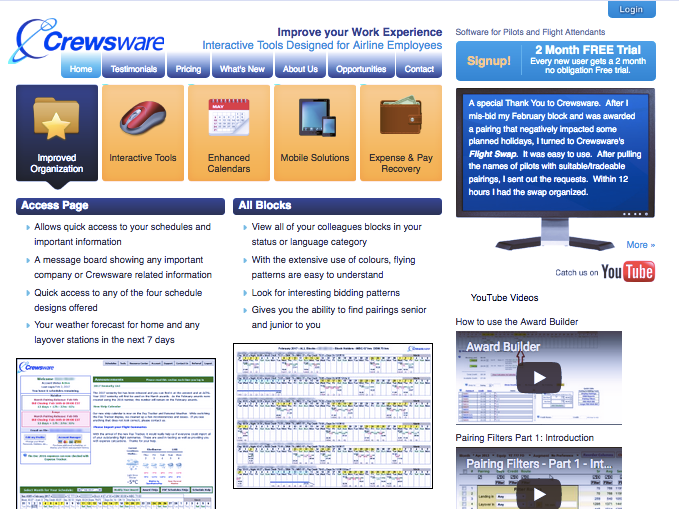 Crewsware Software, Inc. website