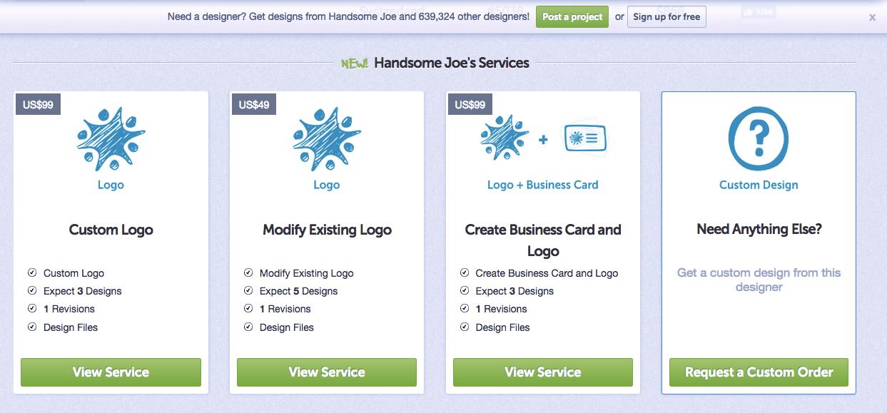 DesignCrowd one-on-one designer services