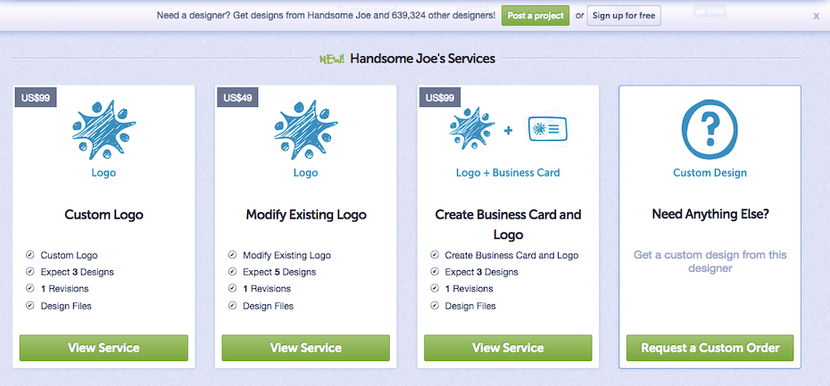 DesignCrowd one-on-one designer services
