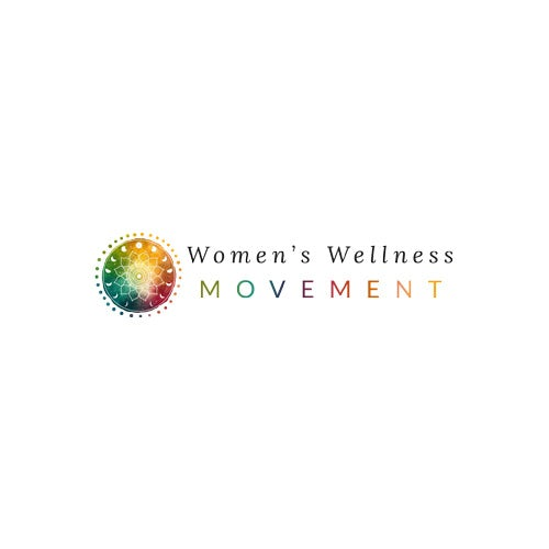 "multicolored design of a sunburst with the text ""women's wellness movement"""