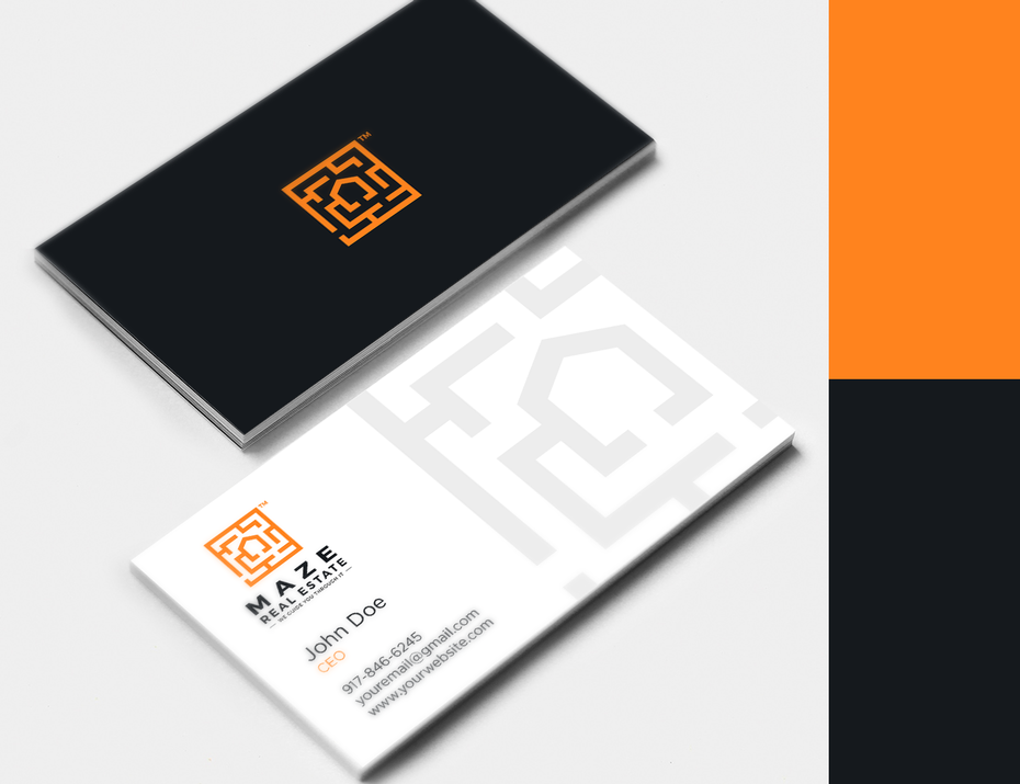 Maze real estate business card