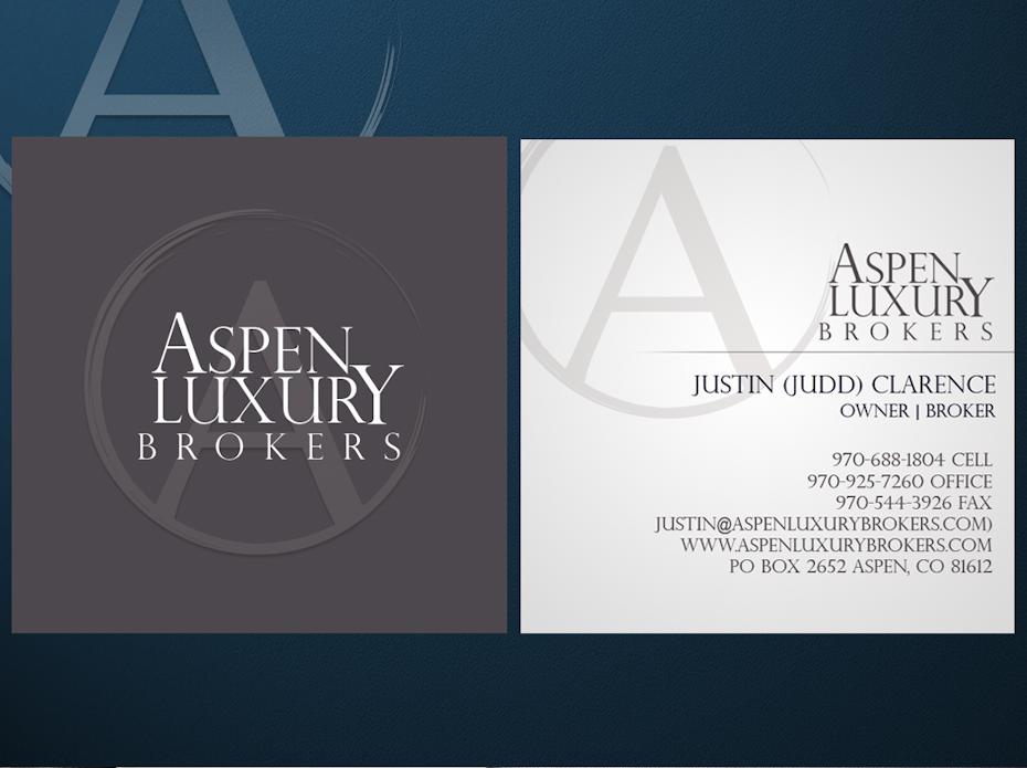 Aspen Luxury Brokers business cards
