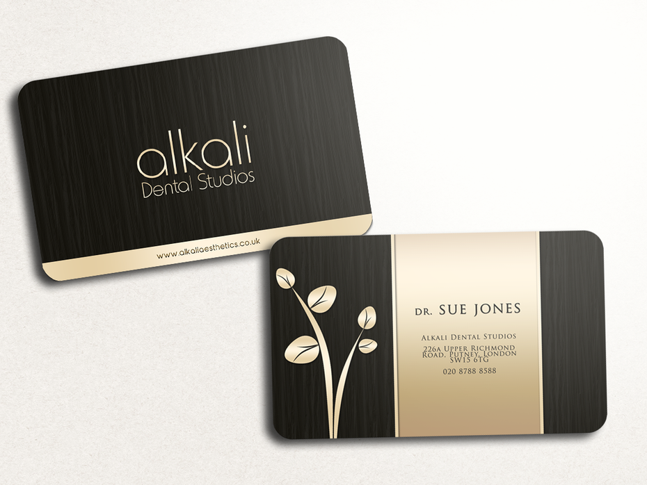 Standard-sized business card that stands out