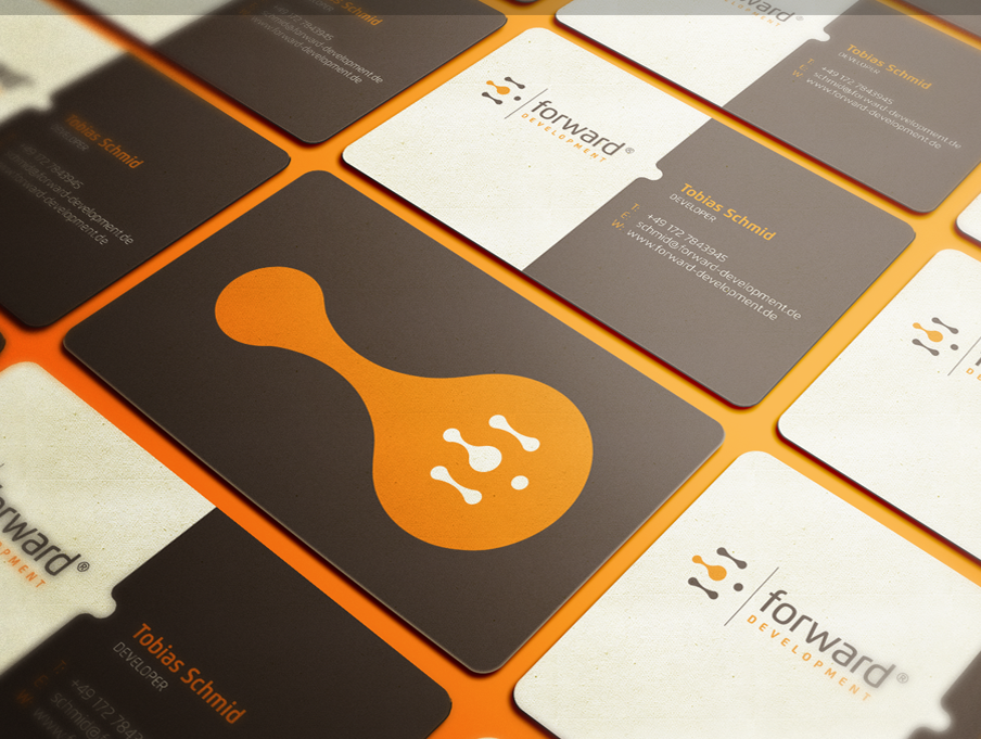 Forward Development business card