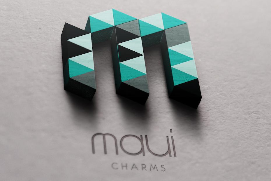3D charms logo design