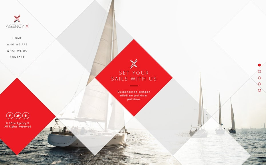 sailing web design