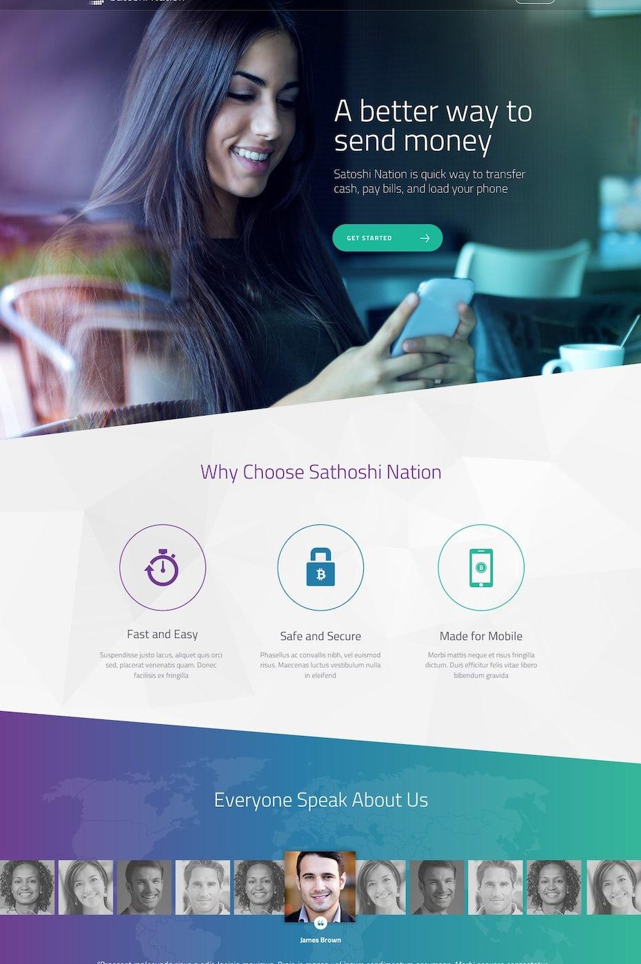 Satoshi Nation website design