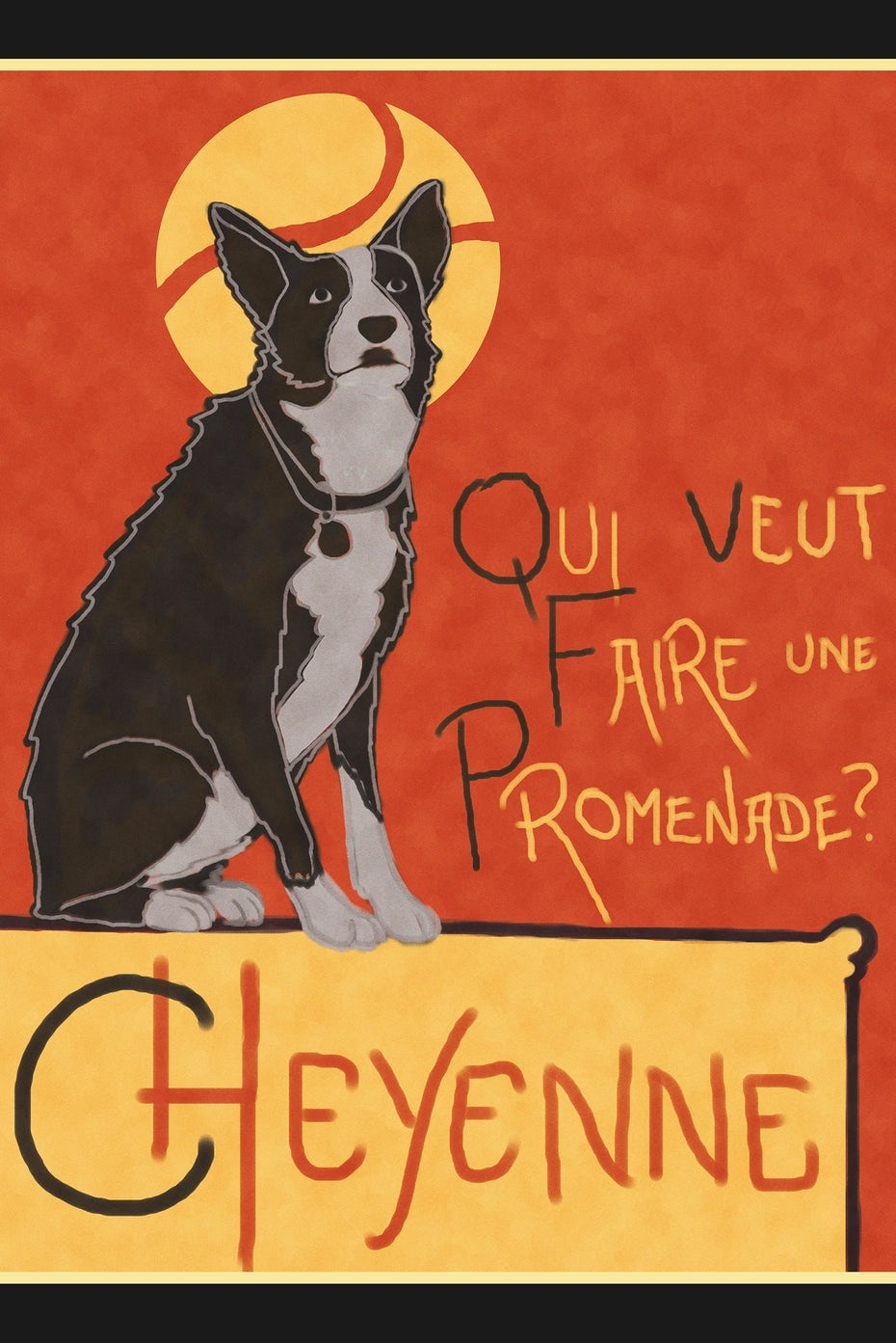 Toulouse Lautrec dog poster