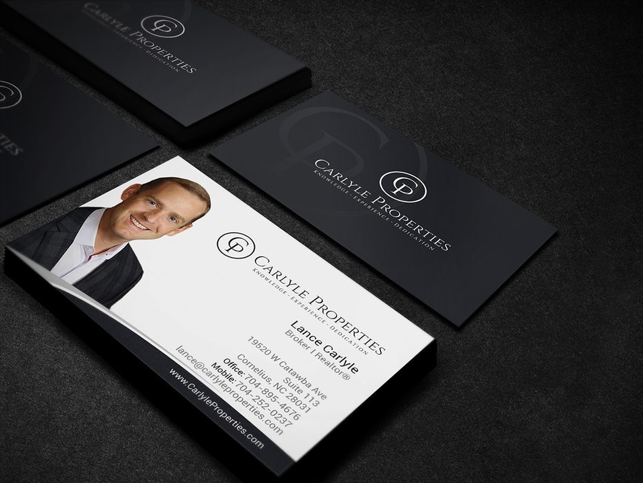 Carlyle properties business card