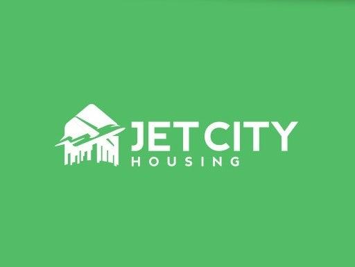 Jet & skyline logo