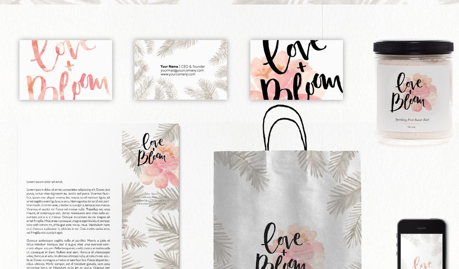 40 watercolor logos that go with the flow