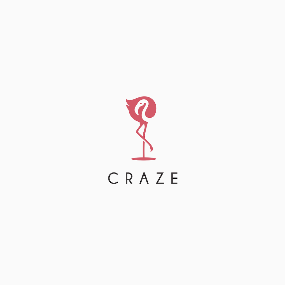 A logo design using negative space