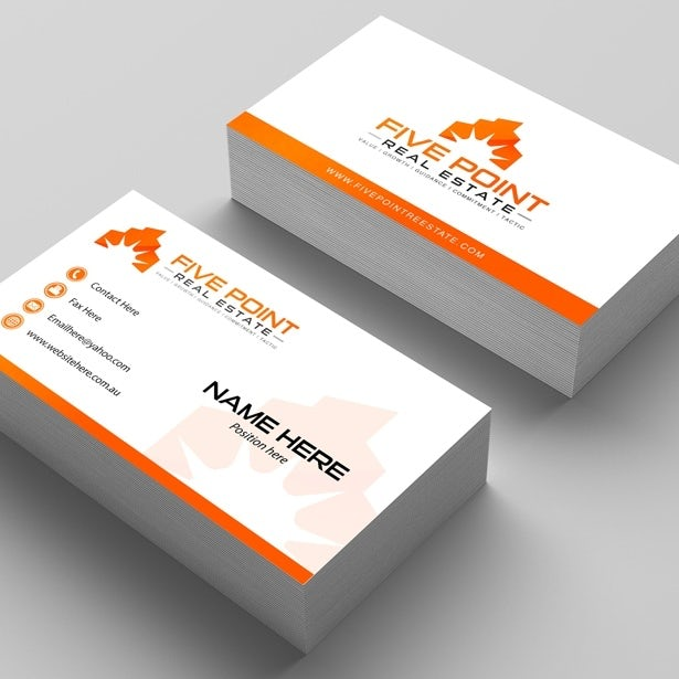 Five point real estate business card