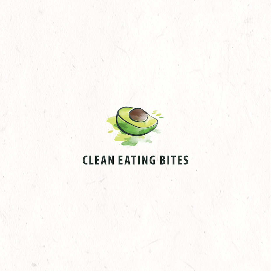 "image of half an avocado with the text ""clean eating bites"""