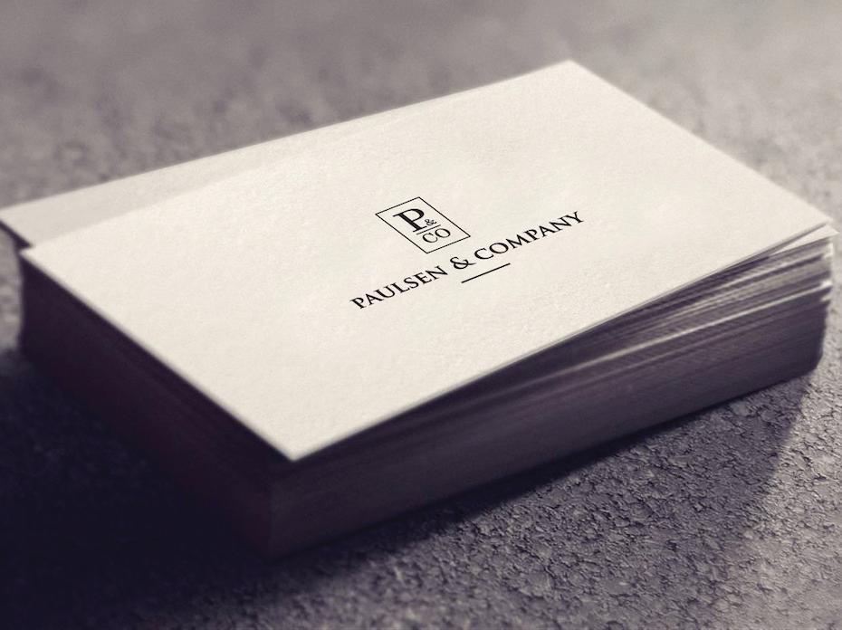 Paulsen & Company business card