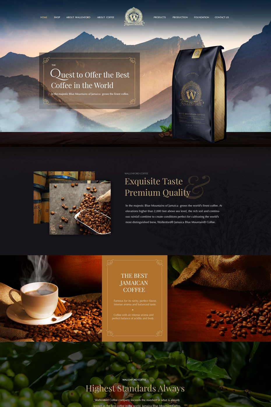 wallenford website design