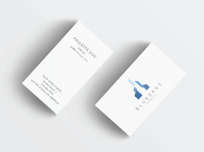 Bluesage Realty business card