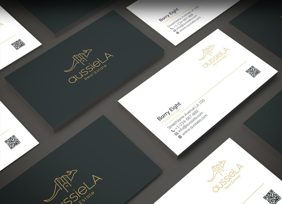 aussieLA Real Estate business card