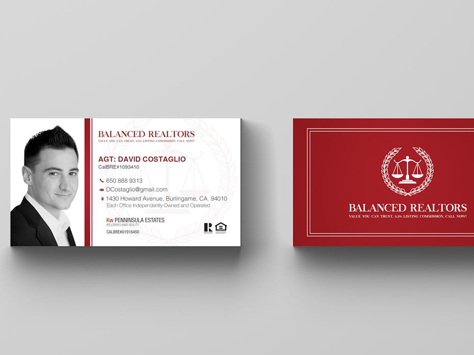 Balanced Realtors Business Card