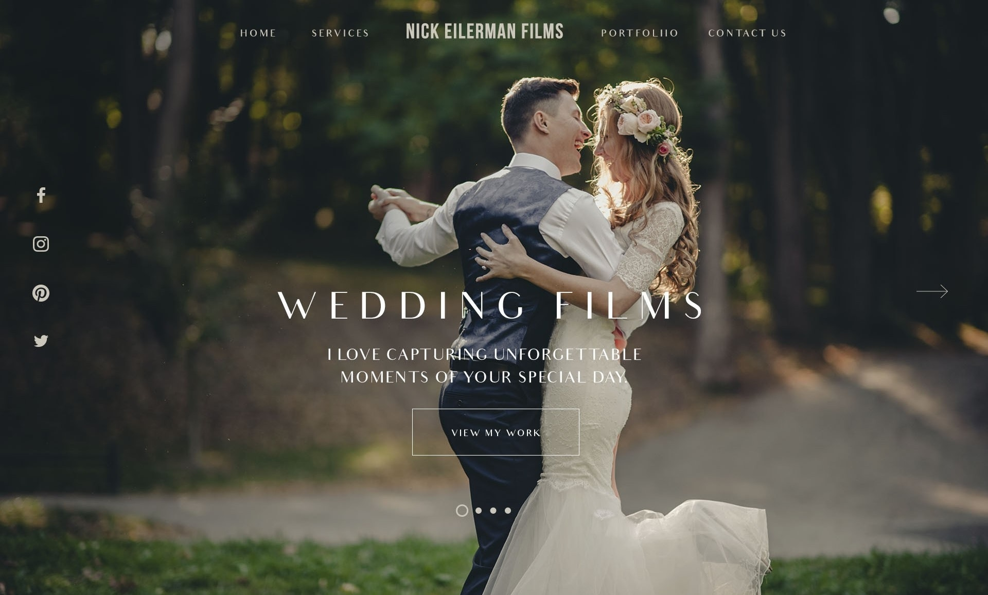 wedding video wordpress design