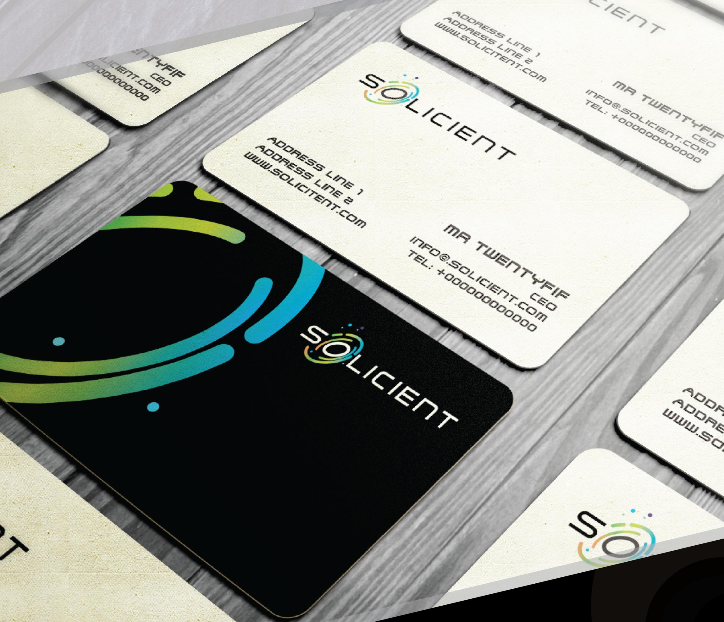 Visitenkarten mit Kreditkartengröße