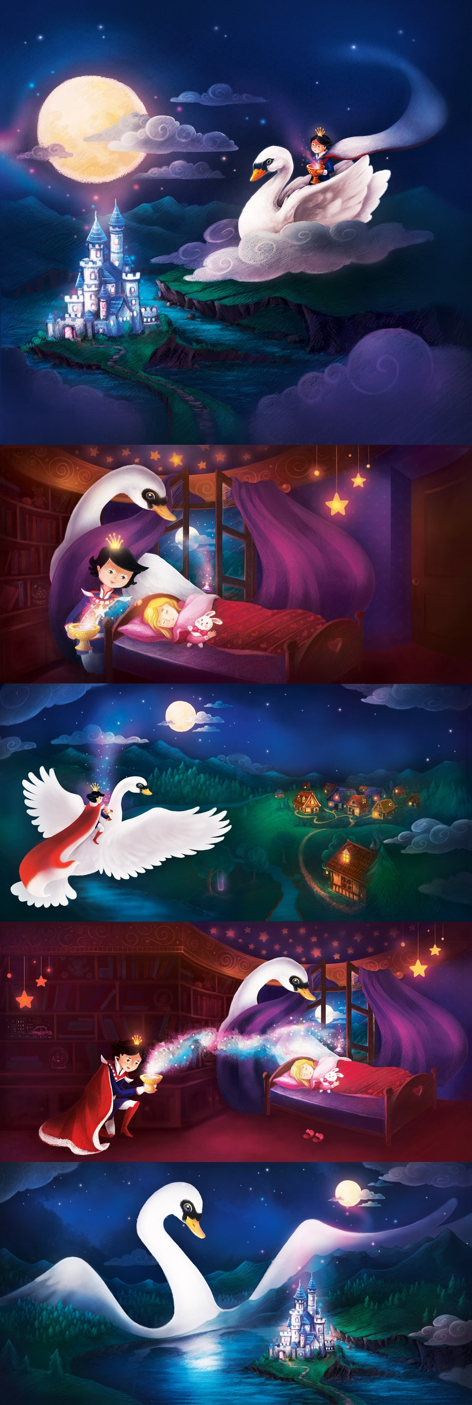 magical swan book illustrations