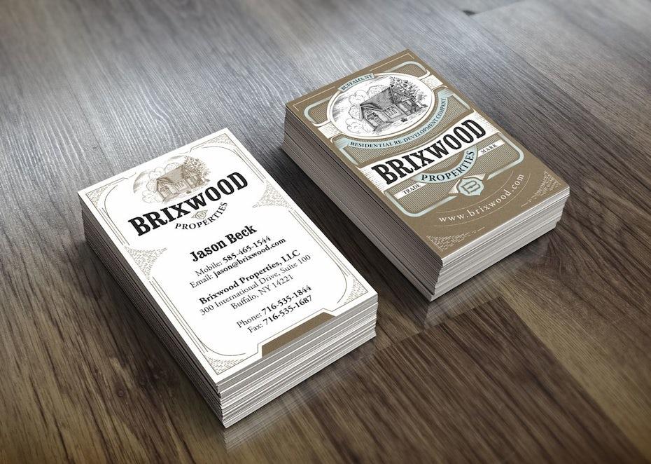 brixwood vintage business card