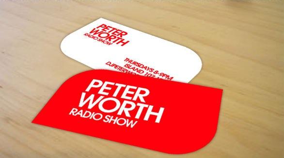 Leaf shaped business card