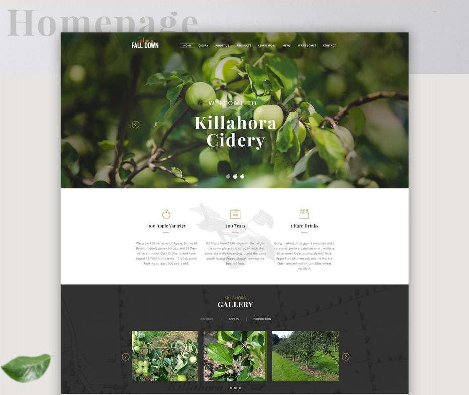 Killahora Cidery web design