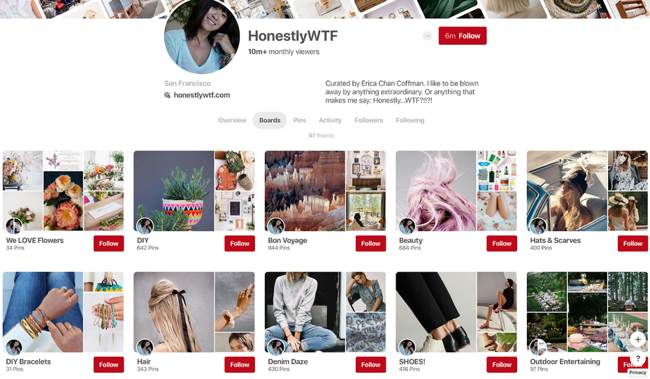 HonestlyWTF Pinterest page
