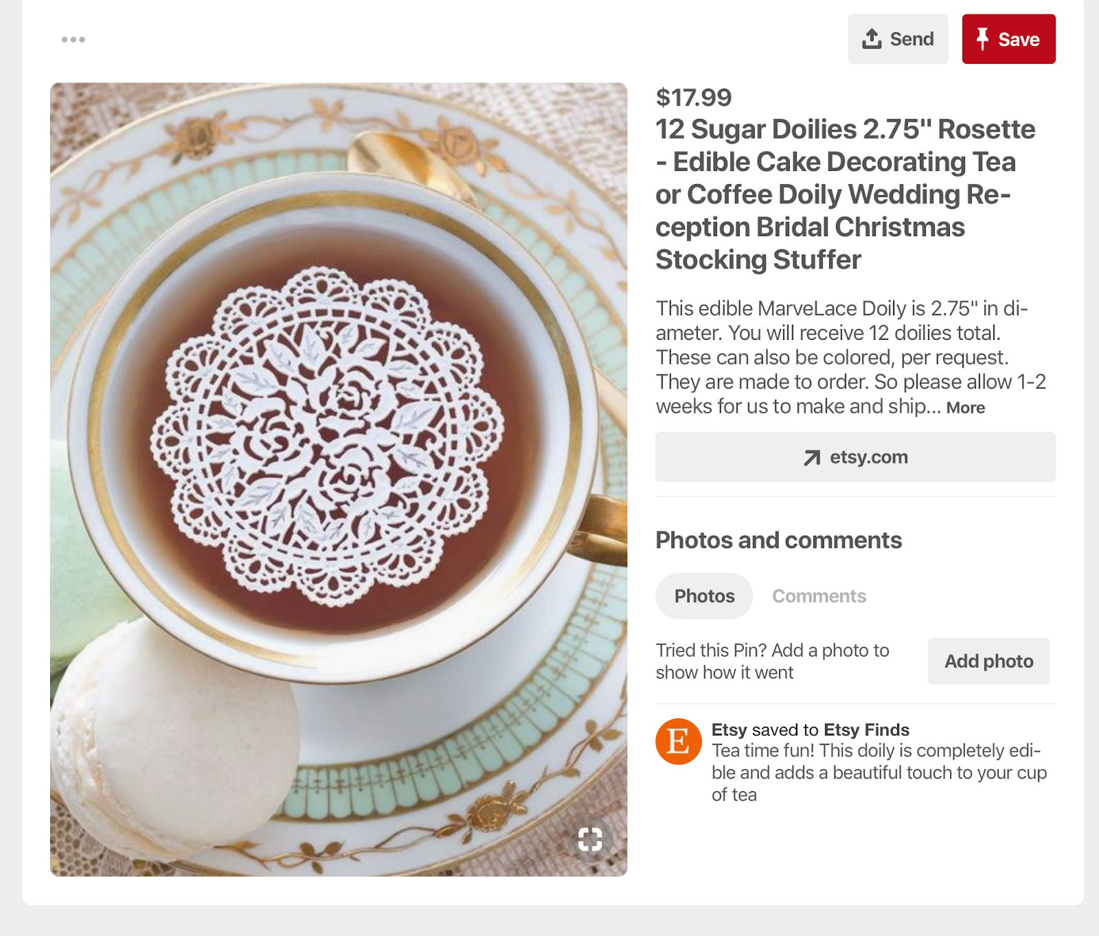 Product Pin showcasing a stocking stuffer idea