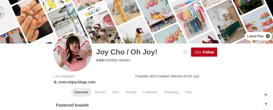 Joy Cho/Oh Joy! Pinterest page