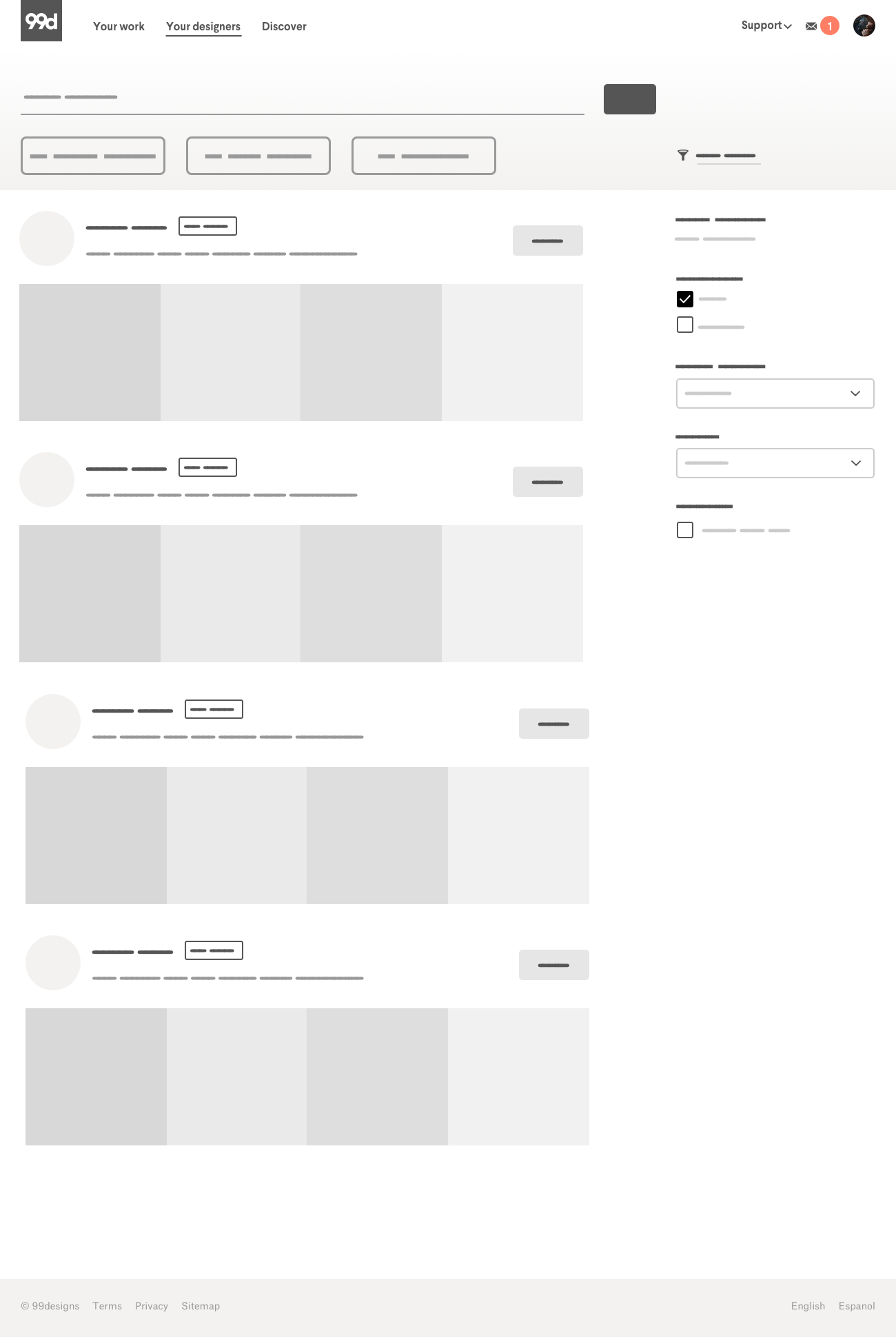 99designs wireframe
