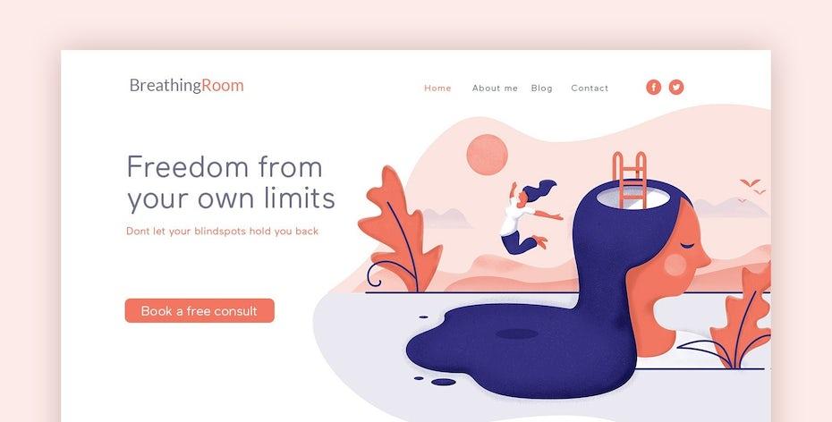 Free your mind surreal web design