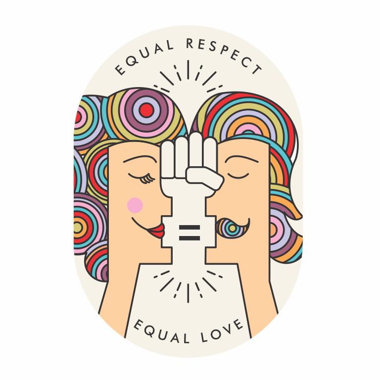 Equal respect equal love logo